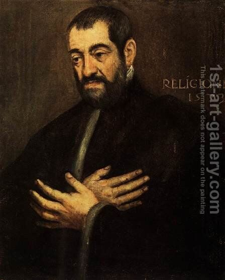 Portrait of a Man 2 2 by Jacopo Tintoretto (Robusti) - Reproduction Oil Painting