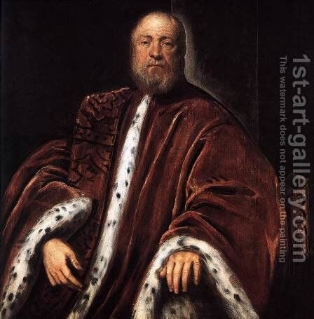 Portrait of a Procurator of St Mark's by Jacopo Tintoretto (Robusti) - Reproduction Oil Painting