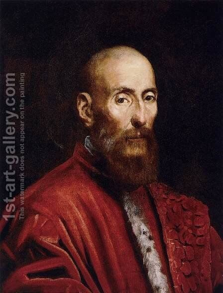 Portrait of a Senator by Jacopo Tintoretto (Robusti) - Reproduction Oil Painting