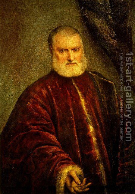 Portrait of Procurator Antonio Cappello by Jacopo Tintoretto (Robusti) - Reproduction Oil Painting
