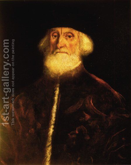 Portrait of Procurator Jacopo Soranzo by Jacopo Tintoretto (Robusti) - Reproduction Oil Painting