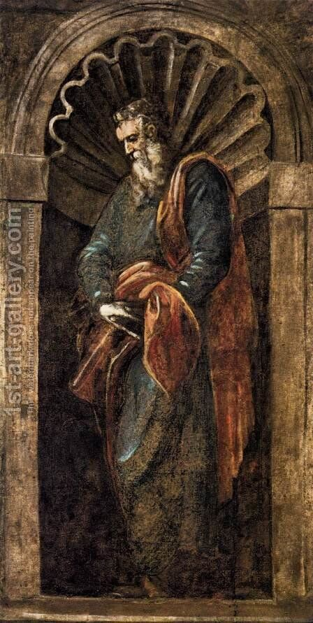 Prophet 2 by Jacopo Tintoretto (Robusti) - Reproduction Oil Painting