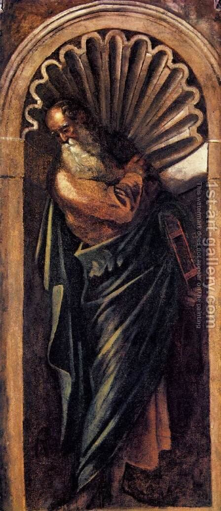 Prophet by Jacopo Tintoretto (Robusti) - Reproduction Oil Painting