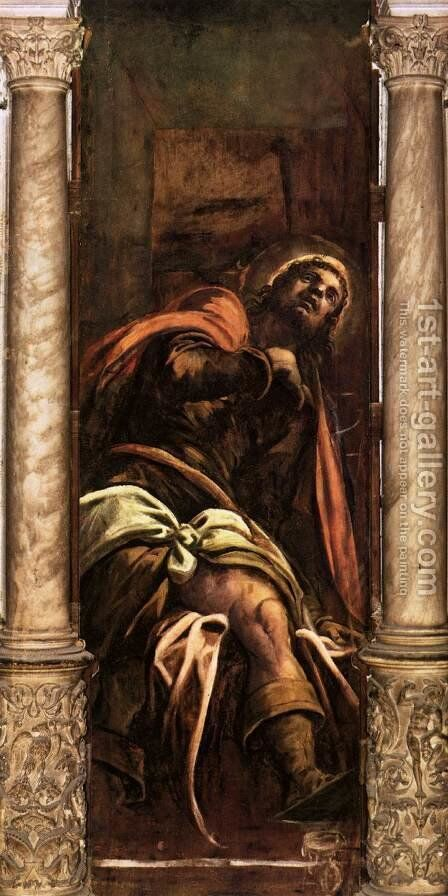 St Roch by Jacopo Tintoretto (Robusti) - Reproduction Oil Painting