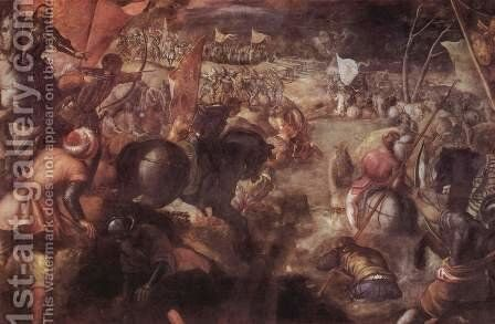 The Battle of Taro by Jacopo Tintoretto (Robusti) - Reproduction Oil Painting