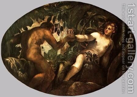 The Fall of Man 2 by Jacopo Tintoretto (Robusti) - Reproduction Oil Painting