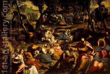 The Jews in the Desert by Jacopo Tintoretto (Robusti) - Reproduction Oil Painting