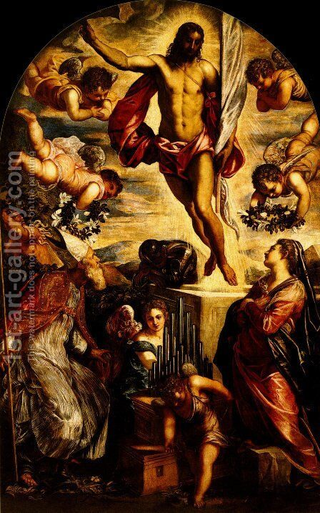 The Resurrection of Christ 3 by Jacopo Tintoretto (Robusti) - Reproduction Oil Painting
