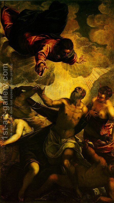 The Temptation of St Anthony by Jacopo Tintoretto (Robusti) - Reproduction Oil Painting