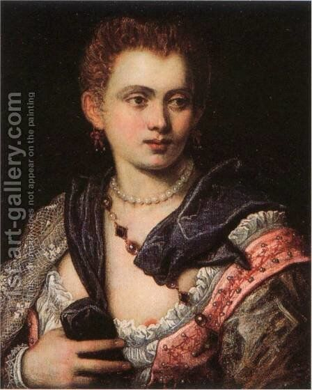 Veronica Franco by Jacopo Tintoretto (Robusti) - Reproduction Oil Painting