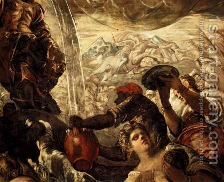 Moses Drawing Water from the Rock (detail 1) by Jacopo Tintoretto (Robusti) - Reproduction Oil Painting