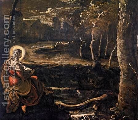 St Mary of Egypt (detail) by Jacopo Tintoretto (Robusti) - Reproduction Oil Painting