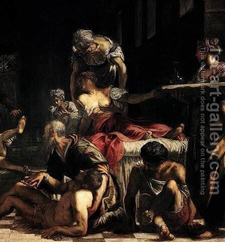St Roch in the Hospital (detail 3) by Jacopo Tintoretto (Robusti) - Reproduction Oil Painting