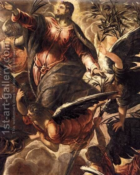 The Ascension (detail 2) by Jacopo Tintoretto (Robusti) - Reproduction Oil Painting