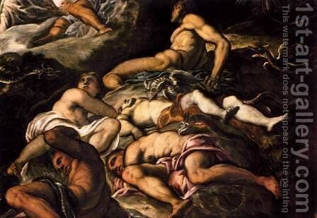 The Brazen Serpent (detail) by Jacopo Tintoretto (Robusti) - Reproduction Oil Painting