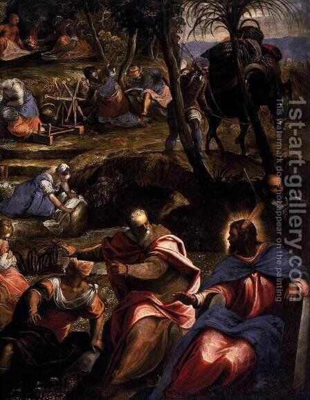 The Jews in the Desert (detail 2) by Jacopo Tintoretto (Robusti) - Reproduction Oil Painting