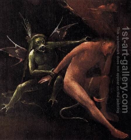 Hell (detail) by Hieronymous Bosch - Reproduction Oil Painting