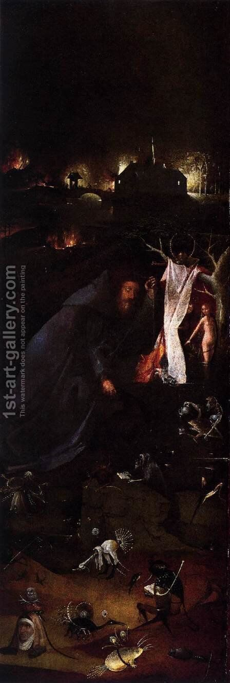 Hermit Saints Triptych (left panel) by Hieronymous Bosch - Reproduction Oil Painting