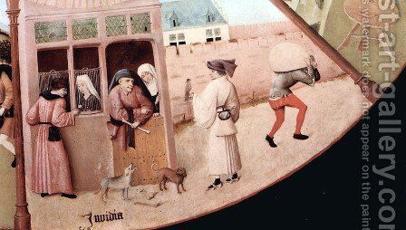 The Seven Deadly Sins (detail 2) by Hieronymous Bosch - Reproduction Oil Painting
