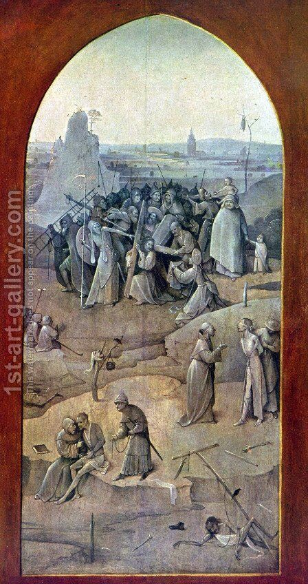 Triptych of Temptation of St Anthony (outer right wing) by Hieronymous Bosch - Reproduction Oil Painting