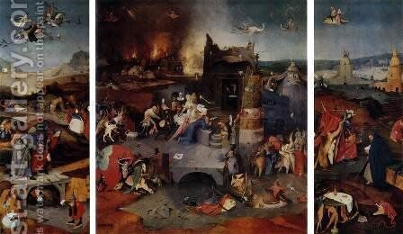 Triptych of Temptation of St Anthony by Hieronymous Bosch - Reproduction Oil Painting