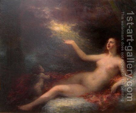Danaé by Ignace Henri Jean Fantin-Latour - Reproduction Oil Painting