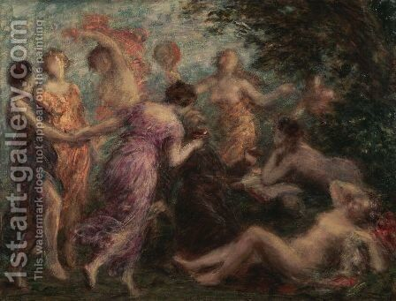 The Temptation of St Anthony by Ignace Henri Jean Fantin-Latour - Reproduction Oil Painting