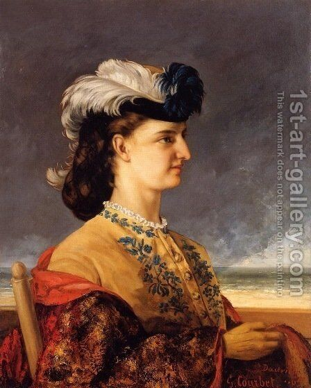 Portrait of Countess Karoly by Gustave Courbet - Reproduction Oil Painting