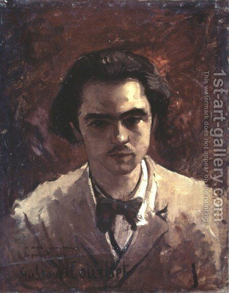 Portrait of Paul Verlaine by Gustave Courbet - Reproduction Oil Painting