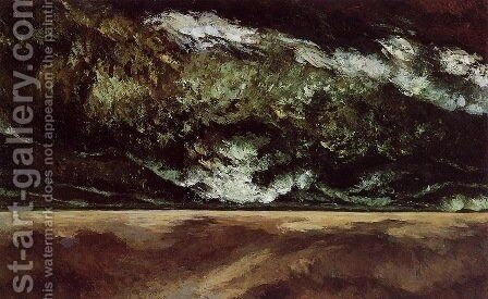 The Angry Sea 2 by Gustave Courbet - Reproduction Oil Painting
