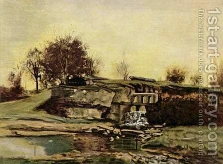 The quarry of Optevoz by Gustave Courbet - Reproduction Oil Painting
