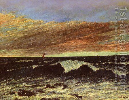 The Wave 1 by Gustave Courbet - Reproduction Oil Painting