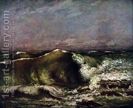 The wave 7 by Gustave Courbet - Reproduction Oil Painting