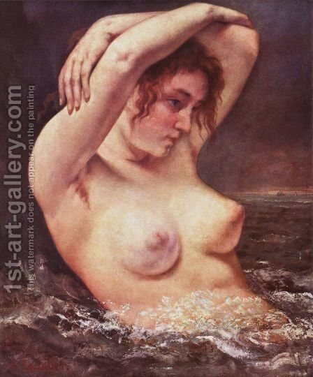 The Woman in the Waves by Gustave Courbet - Reproduction Oil Painting