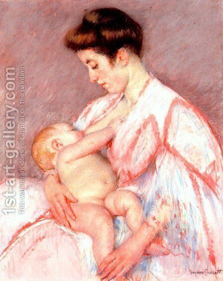 Baby John Being Nursed by Mary Cassatt - Reproduction Oil Painting
