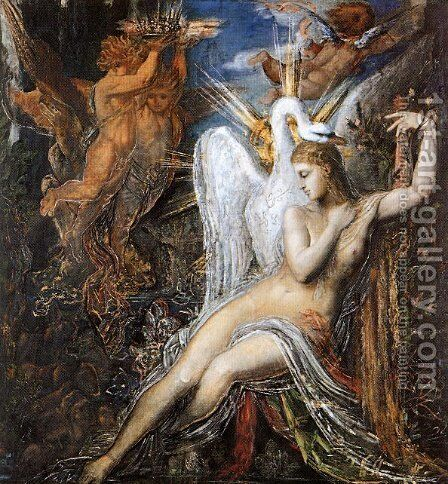Leda 2 by Gustave Moreau - Reproduction Oil Painting
