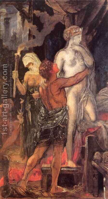 Leda 3 by Gustave Moreau - Reproduction Oil Painting
