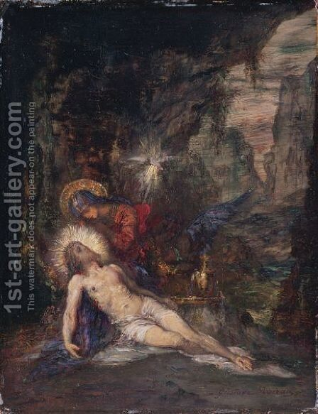 Pietà 2 by Gustave Moreau - Reproduction Oil Painting