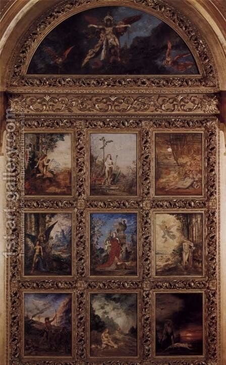 The history of humanity, 9 boards by Gustave Moreau - Reproduction Oil Painting
