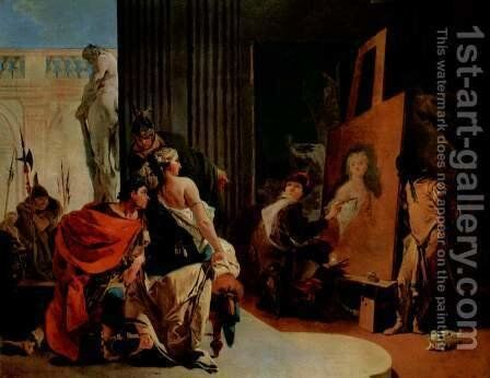 Alexander the Great and Campaspe in the studio of Apelles by Giovanni Battista Tiepolo - Reproduction Oil Painting