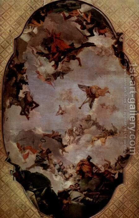 Apotheosis of the Family Pisani by Giovanni Battista Tiepolo - Reproduction Oil Painting