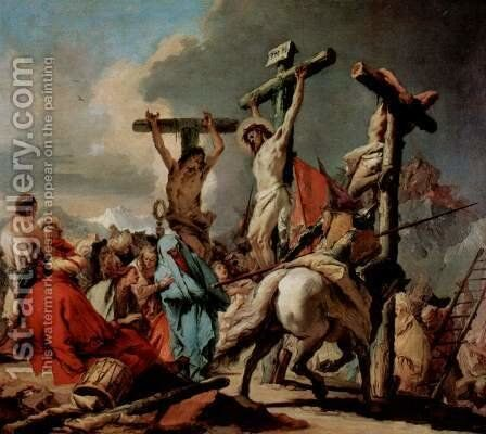 Crucifixion by Giovanni Battista Tiepolo - Reproduction Oil Painting