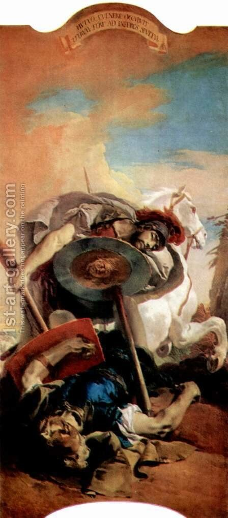 Eteokles and Polyneikes by Giovanni Battista Tiepolo - Reproduction Oil Painting