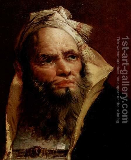 Head of an Oriental by Giovanni Battista Tiepolo - Reproduction Oil Painting