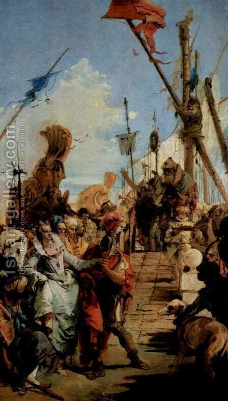 Meetings of Marc Antony and Cleopatra by Giovanni Battista Tiepolo - Reproduction Oil Painting
