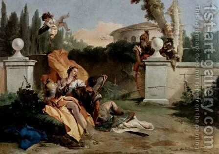 Rinaldo and Armida, Ubaldo and Carlo by Giovanni Battista Tiepolo - Reproduction Oil Painting
