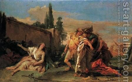 Rinaldo's Departure from Armida by Giovanni Battista Tiepolo - Reproduction Oil Painting