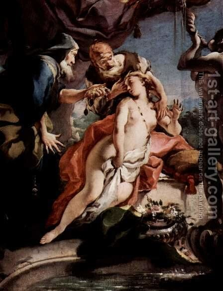 Susanna and the two Alten by Giovanni Battista Tiepolo - Reproduction Oil Painting