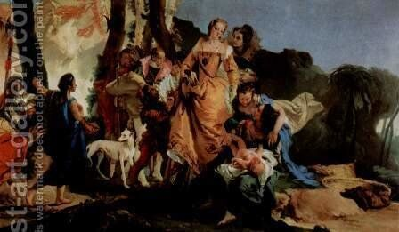 The suspension of the small Moses in a Binsenkorb in water, Fragment by Giovanni Battista Tiepolo - Reproduction Oil Painting