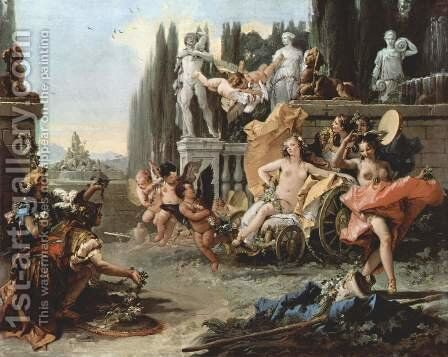 Triumph of Flora by Giovanni Battista Tiepolo - Reproduction Oil Painting